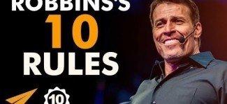 Tony Robbins's Top 10 Success Rules